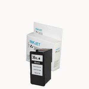 alternatief patroon voor Lexmark 36Xl zwart met niveau-indicator wit Label