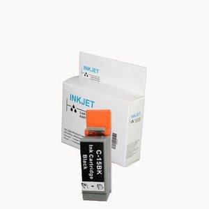2 stuks alternatief inkt cartridge voor Canon Bci-15 zwart wit Label
