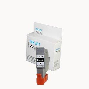 3 stuks alternatief inkt cartridge voor Canon Bci-21/24 zwart wit Label