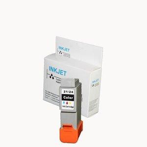 3 stuks alternatief inkt cartridge voor Canon Bci-21 24 gekleurd wit Label