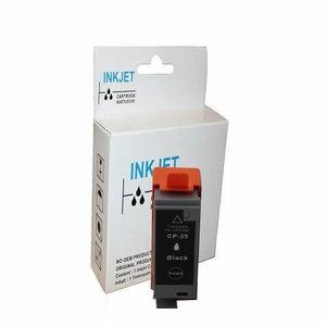 2 stuks alternatief inkt cartridge voor Canon Pgi-35 zwart wit Label