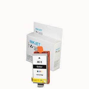s stuks alternatief inkt cartridge voor Canon Cli-36 gekleurd wit Label