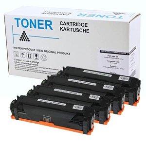 Set 4X alternatief Toner voor Canon 731 I-Sensys Lbp7100