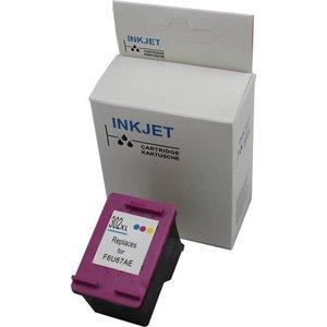 Hp 302XL Color 18 ML (met niveau-indicator)alternatief inkt cartridge