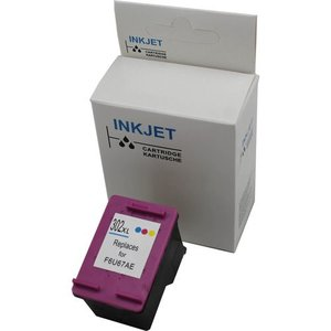 SET HP 302XL Color + HP302XL zwart alternatief inkt cartridge