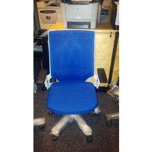 rs pro valera bureaustoel blauw met wit frame