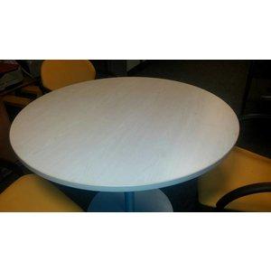 Ronde vergadertafel mooi licht beuken houten blad