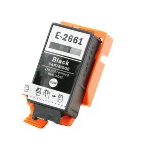 alternatief inkt cartridge voor Epson T266 zwart Workforce 100 maar liefst 10 ml.