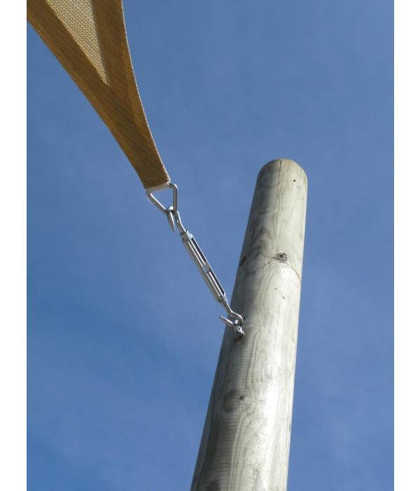 RVS oogbout met houtdraad