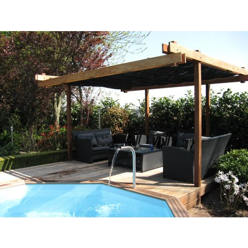 Shadowz pergola incl. wavesail 2,90 x 5,00 mtr. Waterdicht