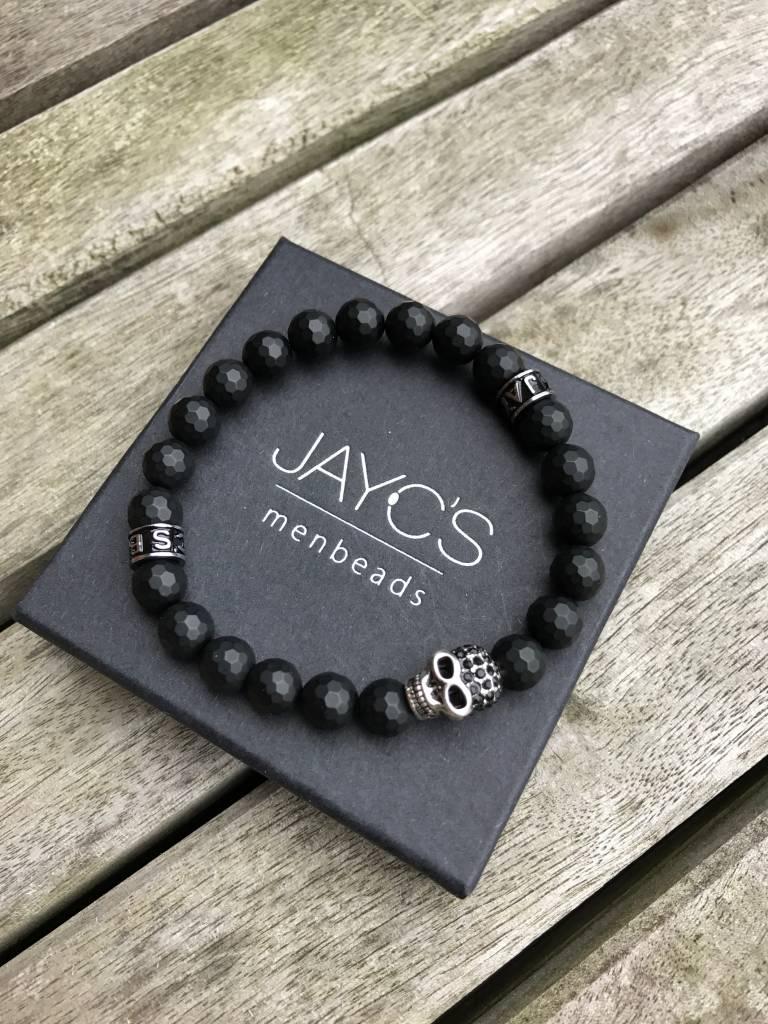 JayC's Bracelet kids gentlemen Skull Black Magic