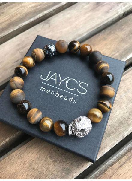 JayC's Heren armband Boogy Woogy Skull