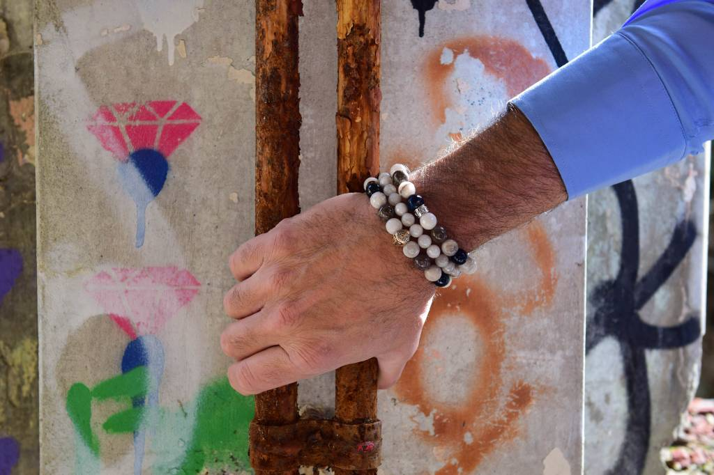 JayC's Bracelet men White Air Buddha