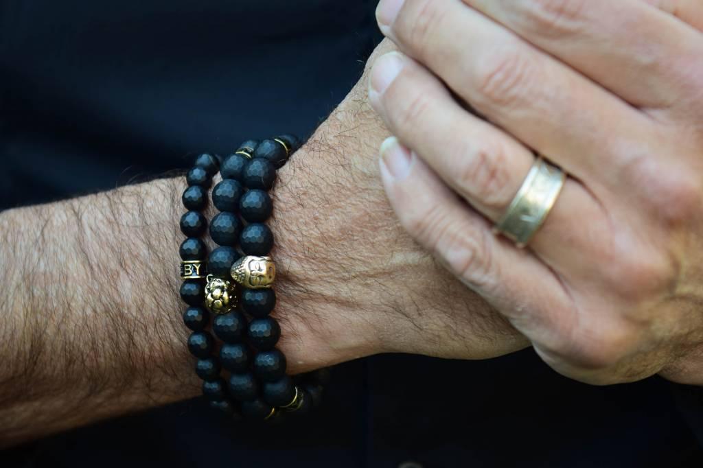 Armband heren Black Buddha-4