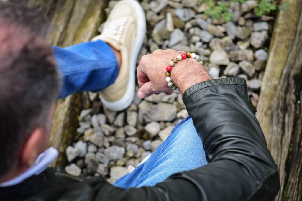 Armband heren Buddha Tricolore-2