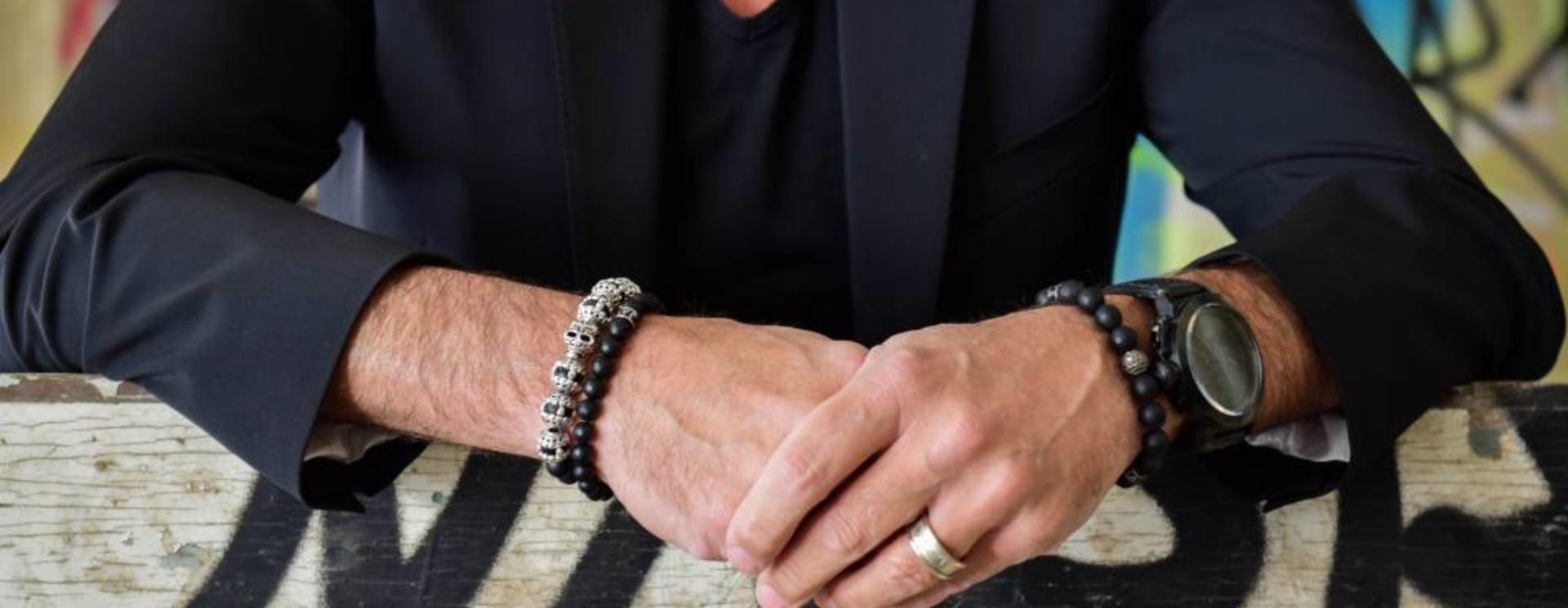 Herren-Armband Schwarz