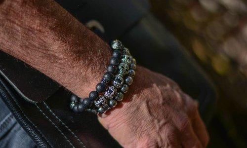 Herren-Armband Grau