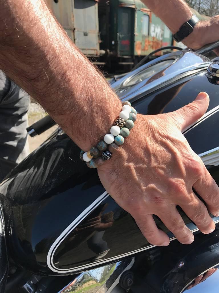 Armband heren Skull Black Soul-2