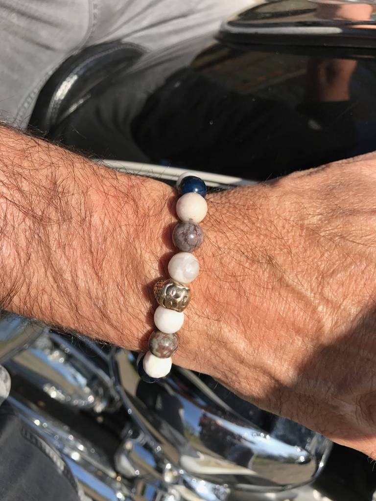 Armband heren Buddha White Air-3
