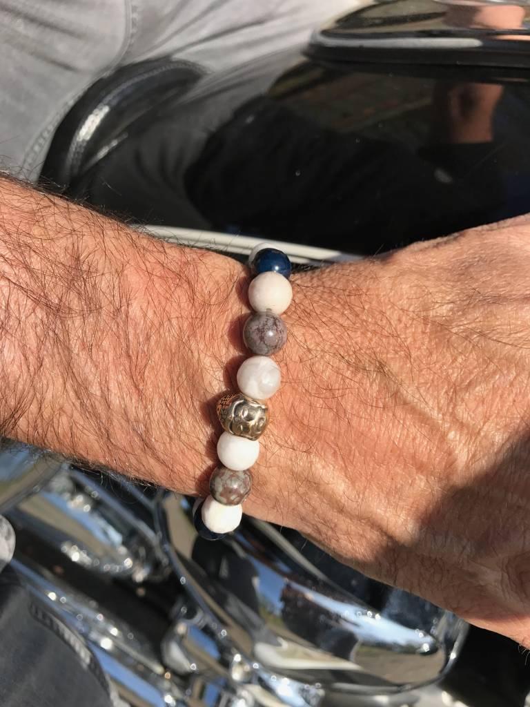 JayC's Armband heren Buddha White Air