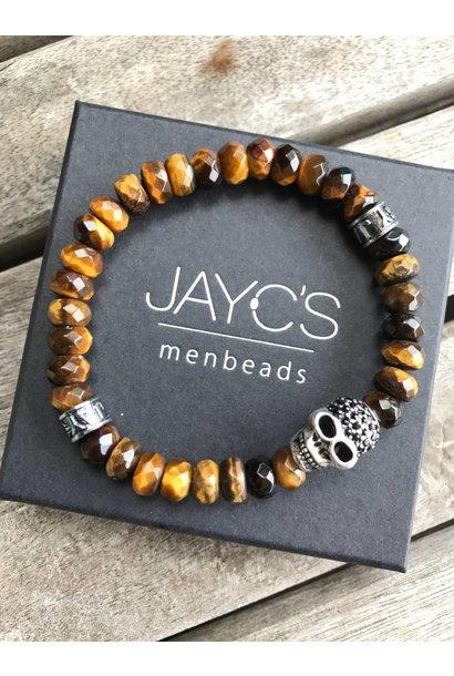 Men's Bracelet Drilled Skull