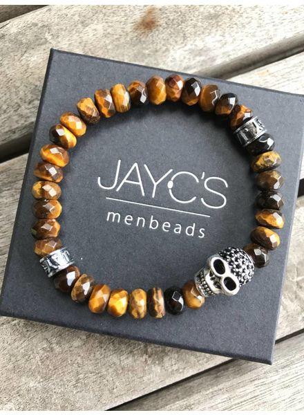 JayC's Heren armband Drilled Skull