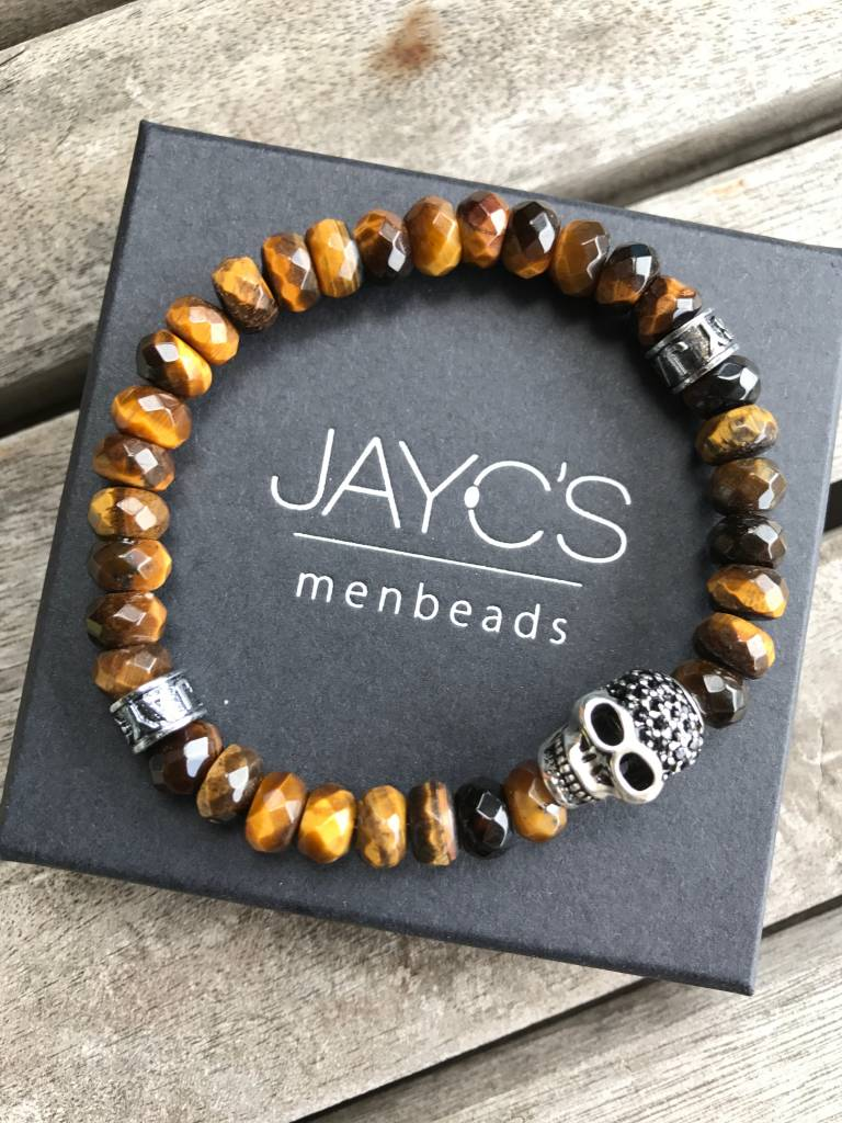 JayC's Armband heren Skull Drilled Schedel