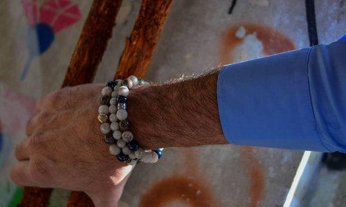 Bracelet White 8 MM