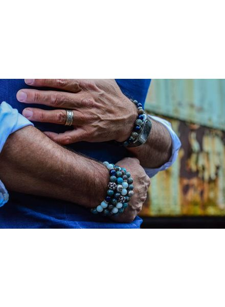 Blue Mood Men Bead Bracelets