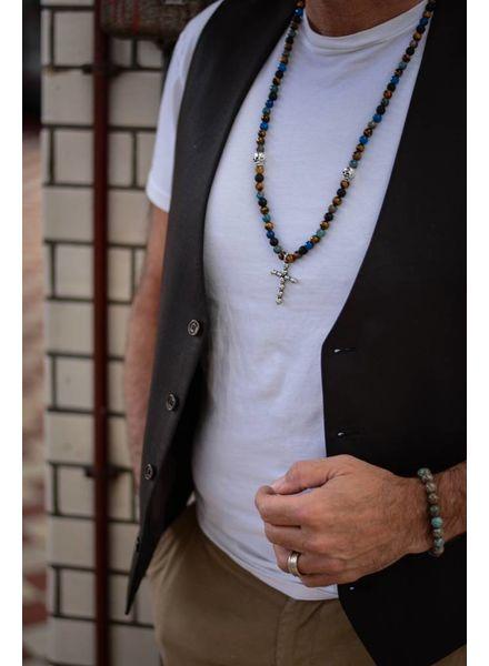 JayC's Men's Necklace Basquas Skull