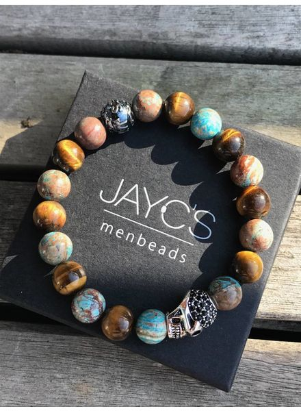 JayC's Men's bracelet Blood Bound III Skull