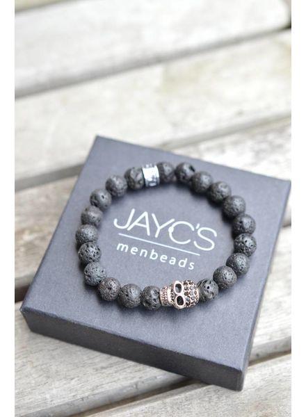 JayC's Kids Bracelet Black Skully I