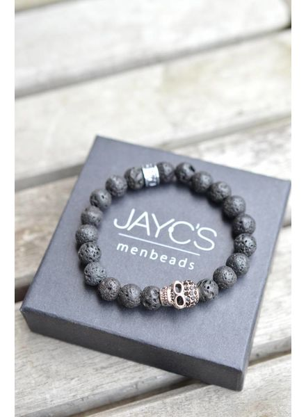 JayC's Kinder-Armband Black Skully I