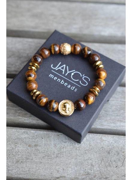 JayC's Heren armband Tirta Gangga Skull