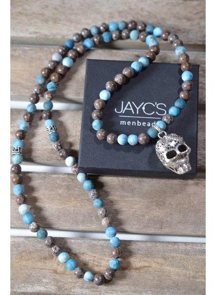 JayC's Men's Necklace Omar Skull