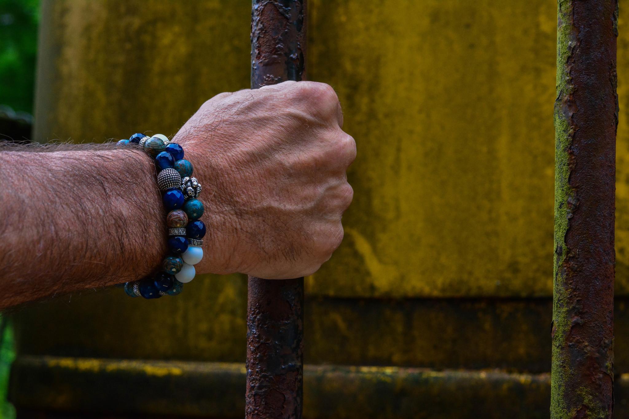 Blue Blue Mood Men Bead Bracelets-2