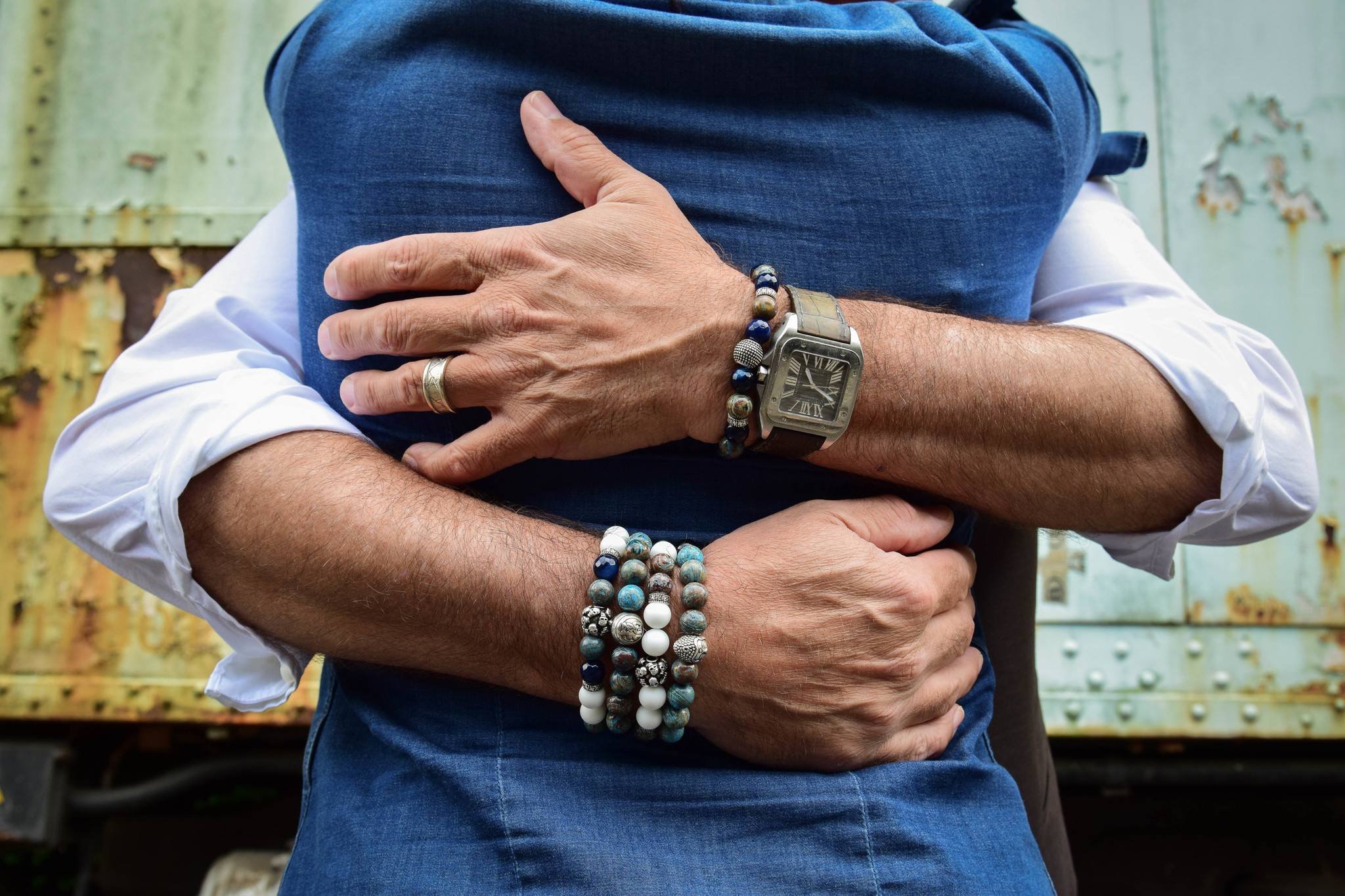 Blue Blue Mood Men Bead Bracelets-3