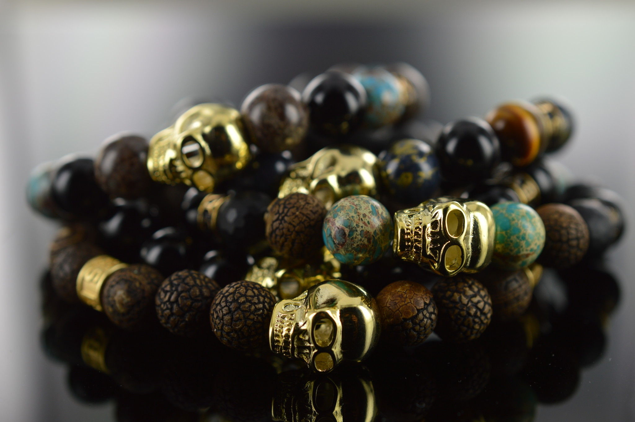 JayC's Armband Männer  Deleryum Skull