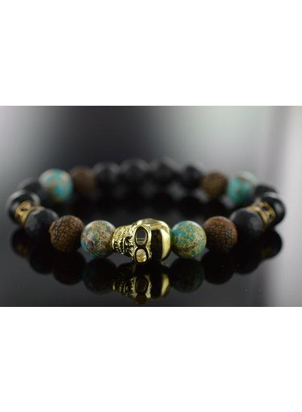 JayC's Men Armband  Deleryum Skull