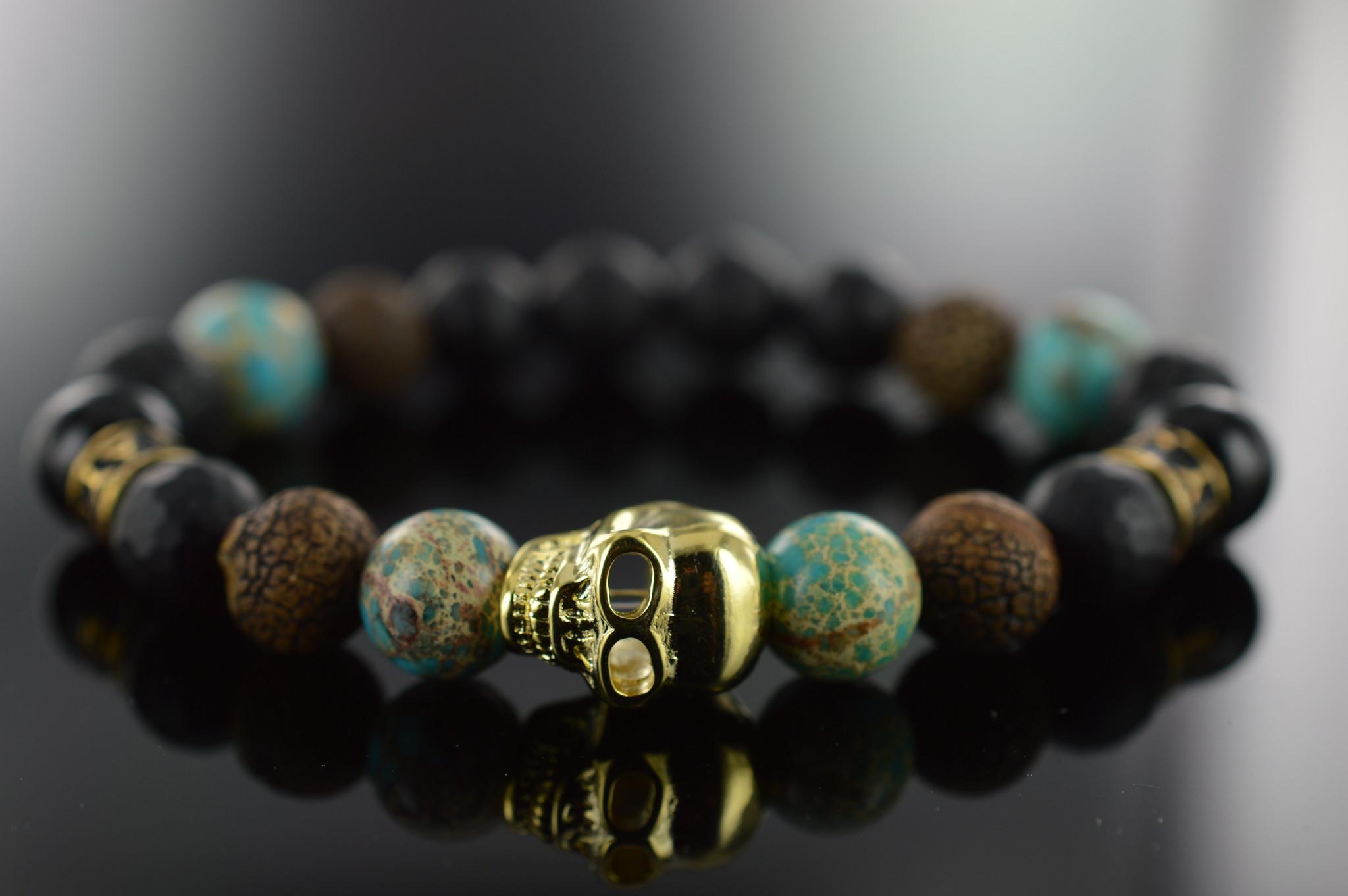 Armband heren  Deleryum Skull-2