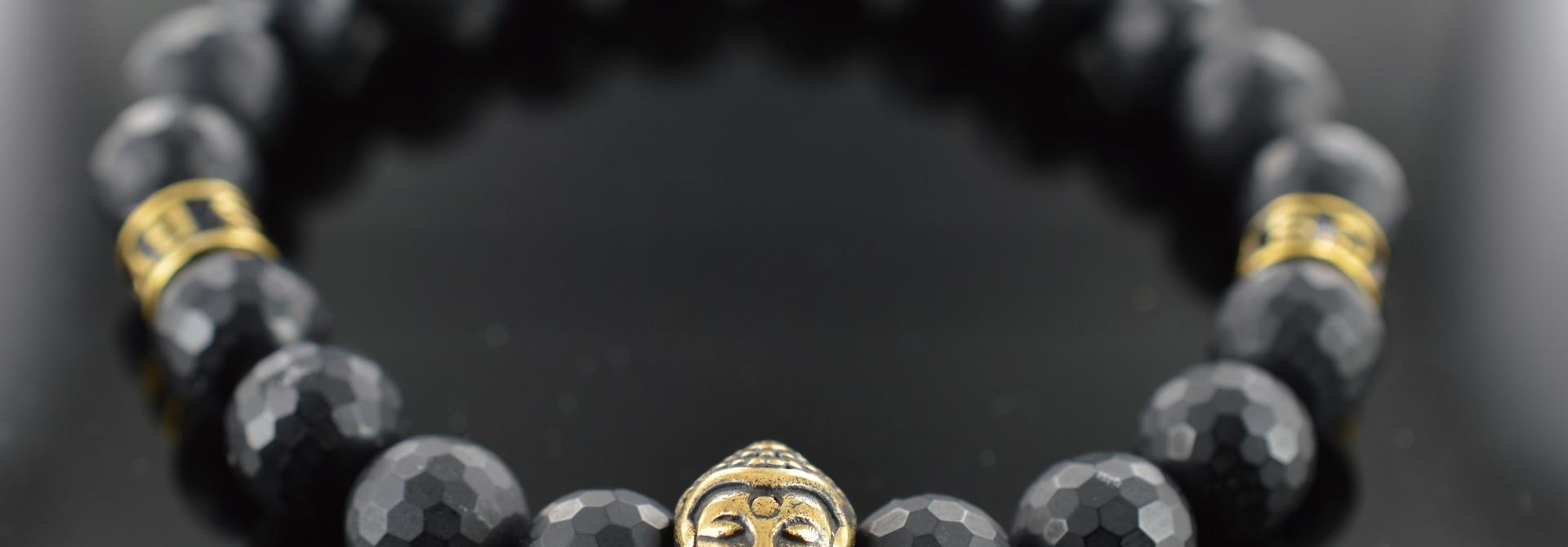 Armband heren Black Buddha