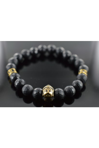 Men Armband Schwarz Buddha