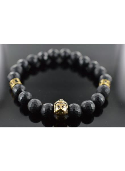 JayC's Heren armband Black Buddha