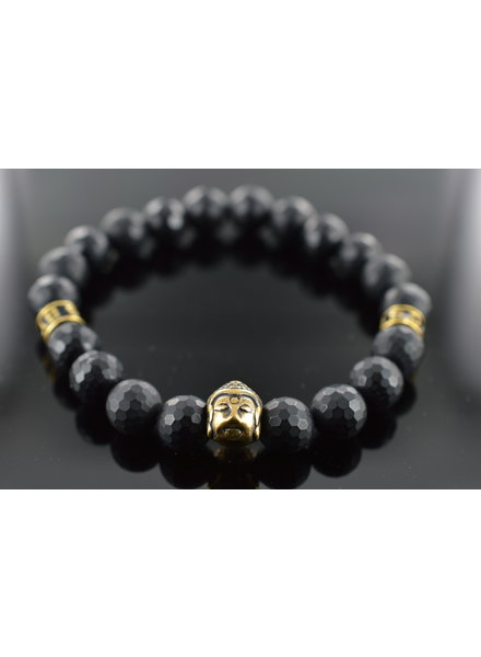 JayC's Men Armband Schwarz Buddha