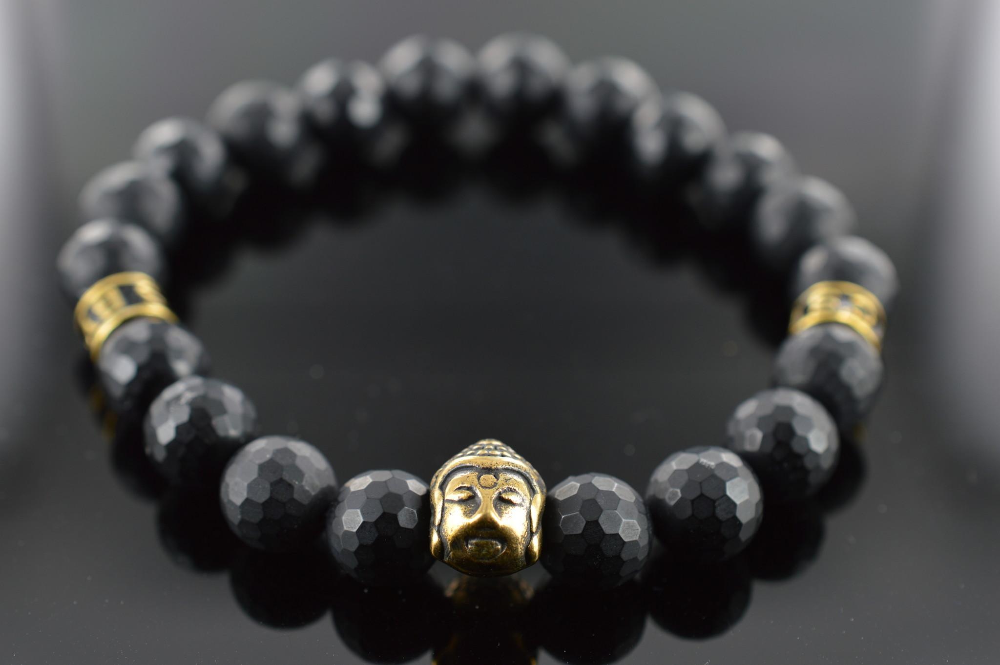 Armband heren Black Buddha-1
