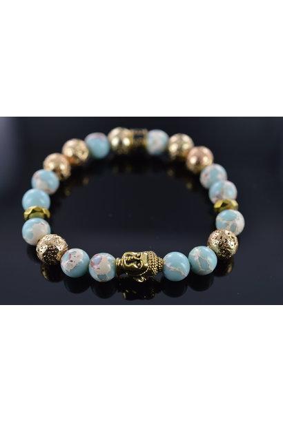 Dames armband Moon Buddha