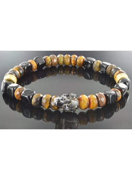 JayC's Men's bracelet  Patron Skull Swarovski