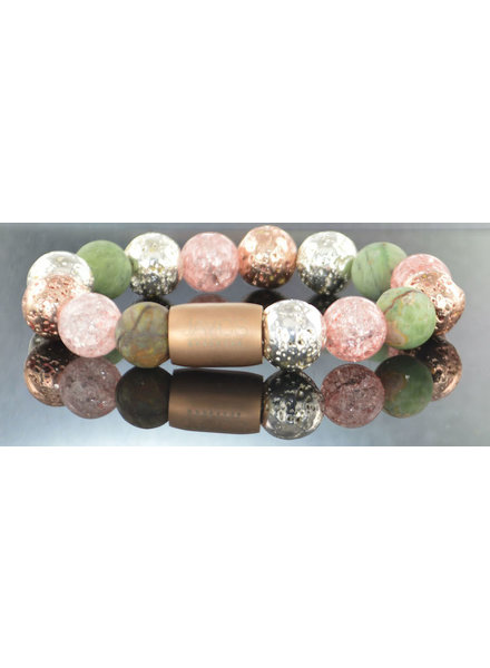 JayC's Damen-Armband Magnet Flowerbomb