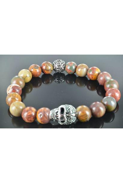 Men's Skull bracelet Stormy