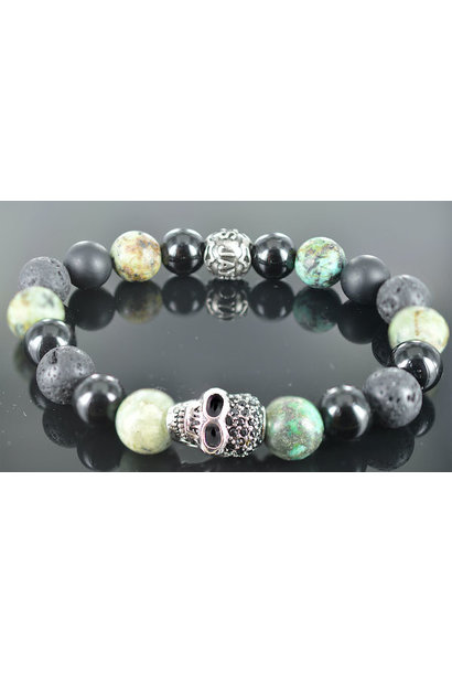 Men's Skull bracelet  Get over It